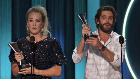 Carrie Underwood And Thomas Rhett Tie For ACM Entertainer Of The Year | Country Music Videos
