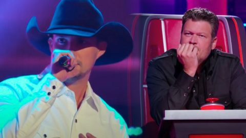 """""""Voice"""" Hopeful's """"Cowboys And Angels"""" Cover Gets Every Coach To Turn…Except Blake 