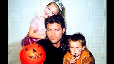 Young Miley Cyrus Appears In Dad Billy Ray's Halloween Throwback Photo   Country Music Videos
