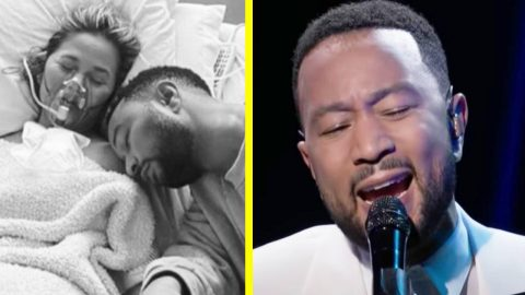 2 Weeks After Pregnancy Loss, John Legend Dedicates BBMAs Performance To Wife | Country Music Videos