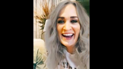 Carrie Underwood Laughs At TikTok Filter That Makes Her Look Older | Country Music Videos