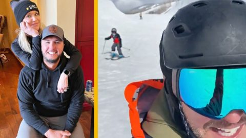 Luke Bryan Wipes Out On The Slopes During Family Ski Trip | Country Music Videos