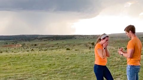 Man Drives Hours To Propose To Girlfriend In Front Of Massive Tornado | Country Music Videos