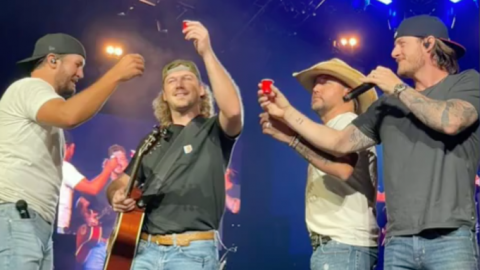 Morgan Wallen Makes Unexpected Appearance On Stage At Luke Bryan Concert | Country Music Videos