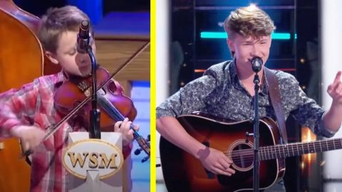 """Fiddle Prodigy Carson Peters Auditions For """"The Voice""""   Country Music Videos"""
