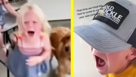 Kids Screaming & Crying After Bigfoot Shows Up To Birthday Party | Country Music Videos